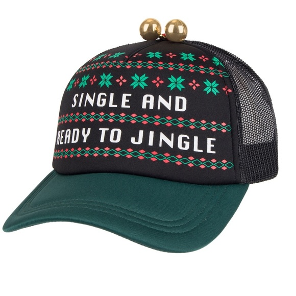 Other - Men's Single and ready to jingle hat with bells